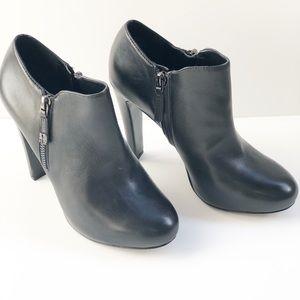 Nine West Binni Black Leather Booties Size 7
